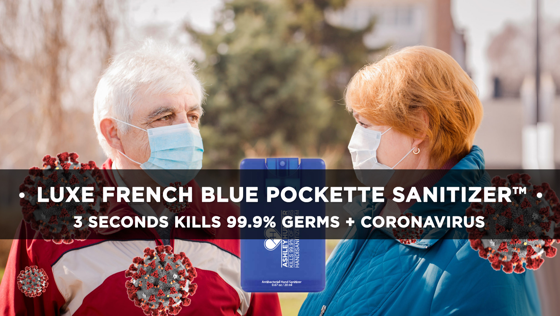 LUXE FRENCH BLUE POCKETTE SANITIZER™